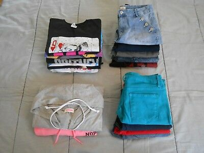 LOT OF 21 Womens Juniors Girls Clothes Tops Bottoms Sizes 10 Thru Extra Large