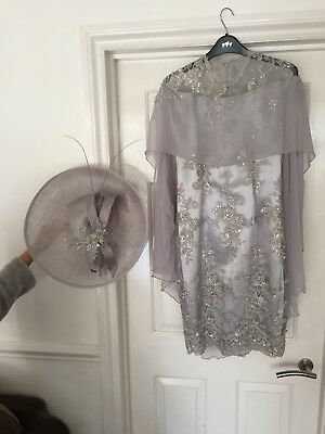 mother of the bride dress size 10 & hat