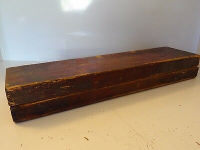 Antique  Mongolian Buddhist Hand Made Wooden  Box For Manuscript Sutra