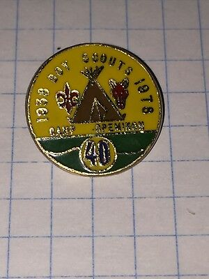 Camp Opemikon Scouts Canada  40th Anniversary metal pin