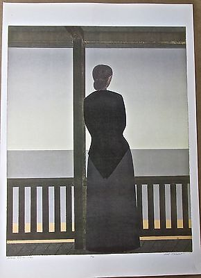 Will Barnet Mini Poster Of Woman And The Sea Offset Lithograph 16x11