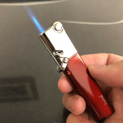 AM365 Windproof  Flint Wheel Lockable flame Torch Cigar Cigarette Lighter Red