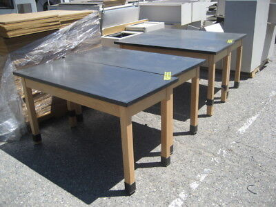 Lot of 4- Lab Tables, solid wood