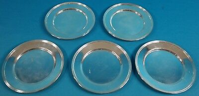 F B Rogers Silver Plated Bread Plate 6 Set of 5