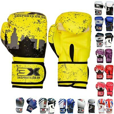 3X SPORTS Kids Boxing gloves 4oz 6oz 8oz Punching Bags Martial Arts Mitts MMA
