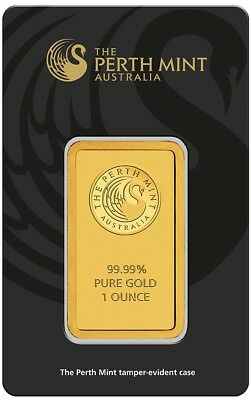 Perth Mint Gold 1oz Bullion Bar (Fully Sealed In Anti-Tamper Case)
