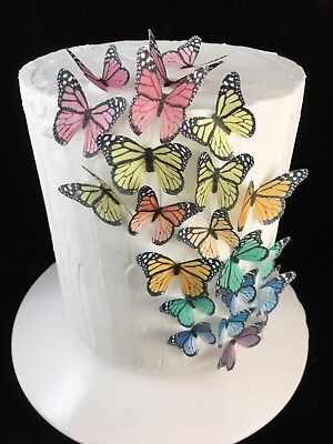 Butterfly Edible Cake Topper 10pc Monarch Party Birthday Fairy Unicorn My Pony