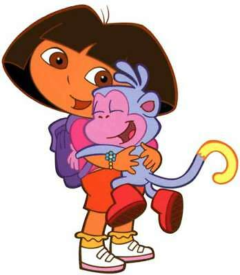 DORA The Explorer & BOOTS the Monkey Large Window Cling Decal Sticker - NEW