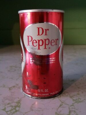 Lates 60s steel body Dr Pepper can opened