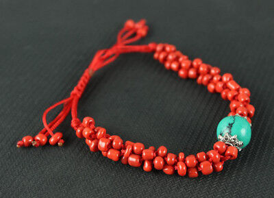 China Exquisite Scattered beads handwork red bracelet