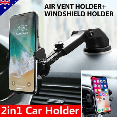 Universal 360° Windshield Mount Car Holder For GPS iPhone XR XS Max Samsung S10