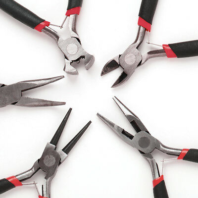 5Pcs Mini Jewellery Making Tools Beading Pliers Round Flat Wire Side Cutters Kit