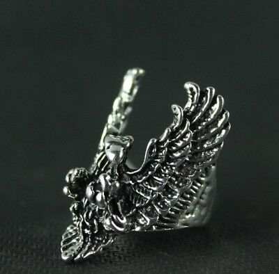 Chinese Collection Old Tibet silver handmade eagle ring