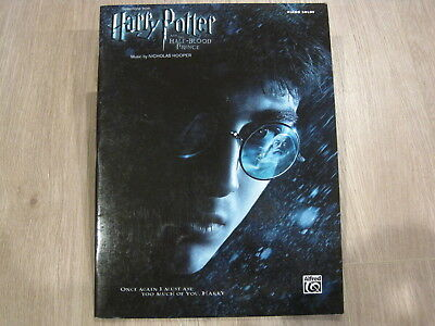 Harry Potter and Half Blood Prince Sheet Music Song Book Songbook Piano Solos