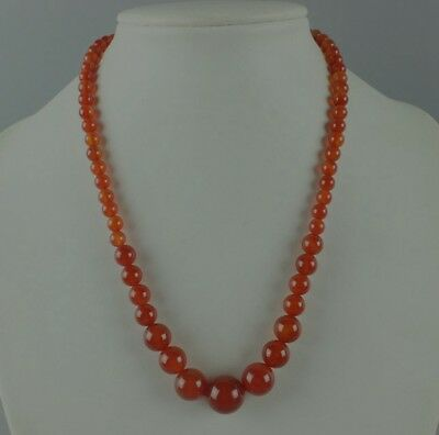 China fashionable noble red natural agate Chalcedony jade bead necklace