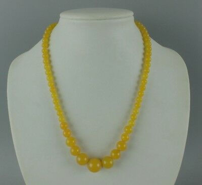 China fashionable noble yellow agate Chalcedony jade bead necklace