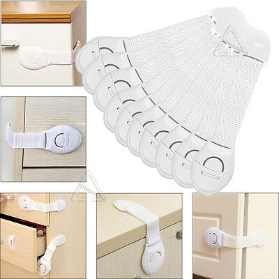 Baby Child Pet Safety Safe Lock Fridge Toilet Drawer Cabinet Cupboard Door
