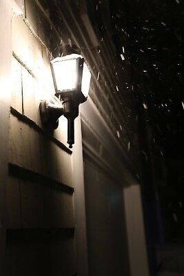 Light In Snow Night Digital Picture Image Photo;