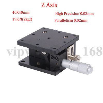 Z Axis Trimming Platform Linear Stage 40/60/90MM Bearing Tuning Sliding Table