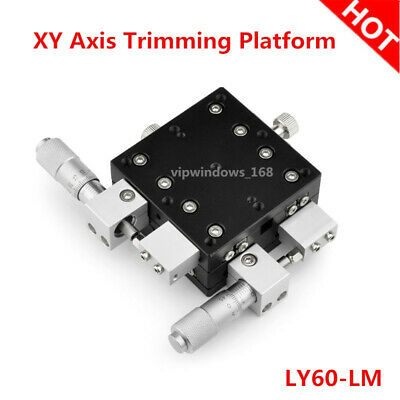 XY Axis Linear Stage Trimming Platform Bearing Precision Sliding Table 60*60mm