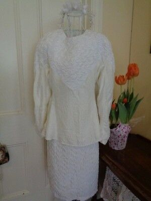 Vintage Wedding Outfit Skirt Top & Head Piece By Moods