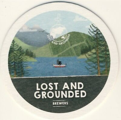 Sous bock bierviltje coaster LOST AND GROUNDED regional brewery in Bristol GB
