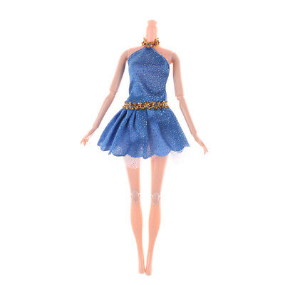 1PC Blue Doll Party Dress For Barbie Doll Dress Clothes Accessories Gift@#