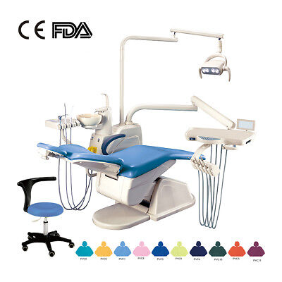 UK Dental Unit Chair Computer Controlled Hard leather& Doctor stool GD-S200A