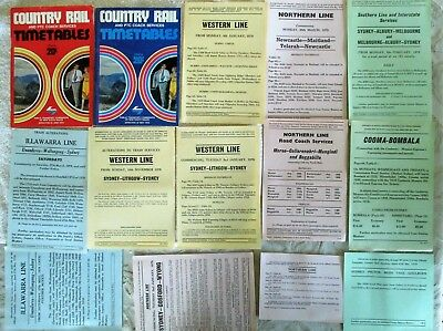 NSWGR NSWPTC Country Rail & Coach Services Timetables 1978 & 79 with Alterations