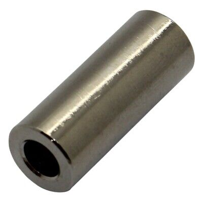 10x DR3110/5.3X12 Spacer sleeve 12mm cylindrical brass nickel Out.diam10mm