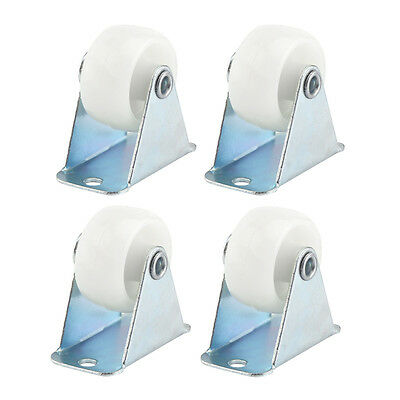 "4Pcs Practical 1"" PP Wheel Rectangle Top Plate Fixed Swivel Rigid Caster"