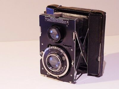 Bentzin Planovista 127 Rollfilm Twin-Lens Folding Camera With Meyer F2.9/7.5Cm