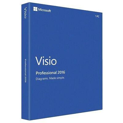 Microsoft Visio 2016 Professional Key for 1 User/1 PC - Lifetime Licenc