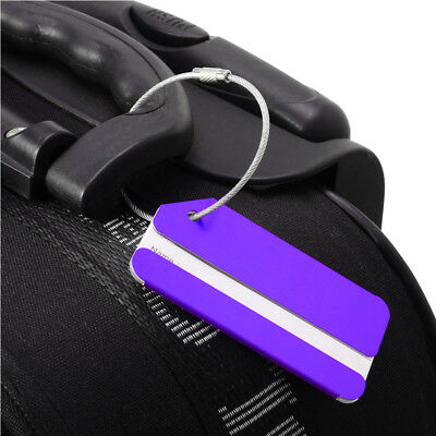 4 Pcs Aluminium Metal Travel Cruise Suitcase Luggage Bag ID Tags Name Holder