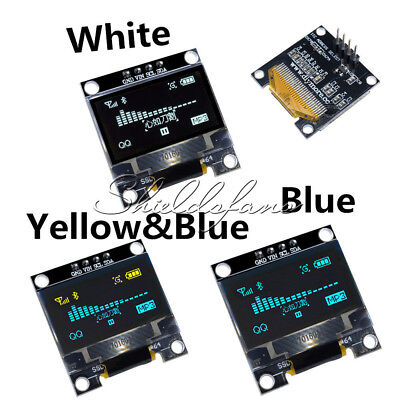"Yellow/Blue/White 0.96"" 128X64 OLED I2C IIC Serial LED LCD SSD Display SSD1306"