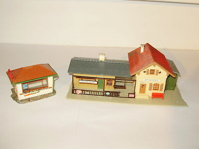 Faller country station building & platform. Good cond. May be missing parts. HO