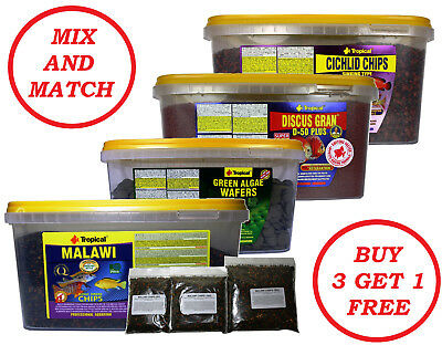 Malawi Chips Cichlid Gran Discus Green Algae Wafers Flake Granules Fish Food