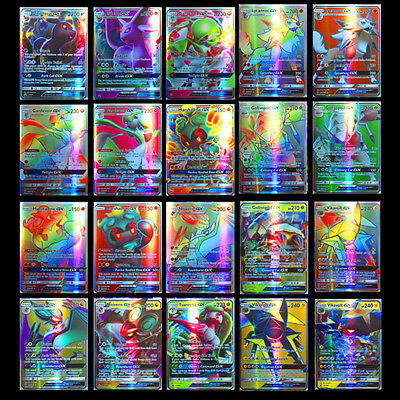 120 Stück Pokemon GX Karte Alle MEGA Holo Flash Trading Cards Holiday Gifts Toy