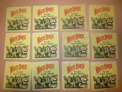 2 lots of 6 WHITE HORSE 1970,s Issue  Scotch Whisky Australian Issue COASTERS