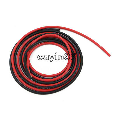 Black + Red 12 AWG Gauge Wire Silicone Flexible Copper Stranded Cables For RC UK