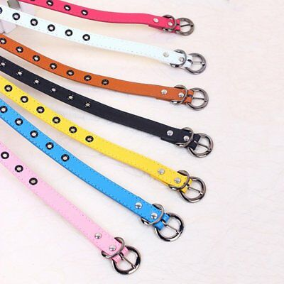 UK Baby Boys Kids Girls Adjustable PU Leather Casual Candy Color Belt Waistband
