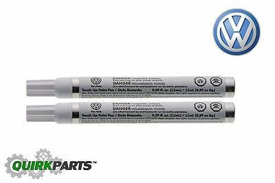Genuine VW Volkswagen Touch-Up Paint Pen LSTB9Z White Silver Metallic OEM NEW
