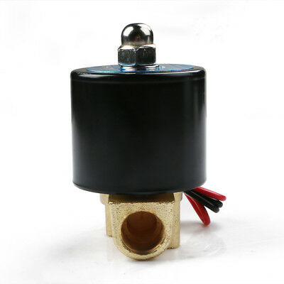 Hot New 3/8″DC12 Alloy Electric Solenoid Valve N/C Gas Water Fuel Air Solid Coil