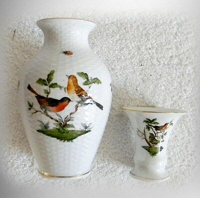 Herend Vase And Toothpick Holder In Bird Design Hungary Free