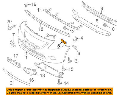 NISSAN OEM 07-12 Versa FRONT BUMPER-Rail Extension Right G5114EM3MA