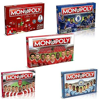 Monopoly Board Game Football Editions Premier League & Fifa World Cup Editions
