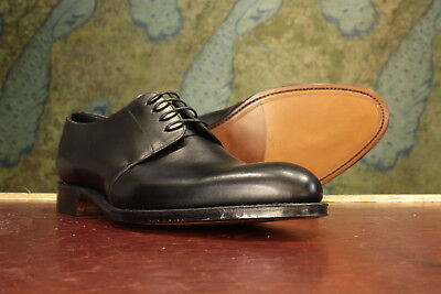 Loake 1880 Gltone Black Derby Shoe 9g New Slight Seconds Rrp 230 16375