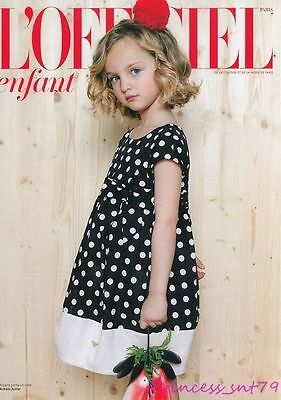 L'OFFICIEL ENFANT Magazine Spring 2014 Kids Children Ninos Bambini Fashion
