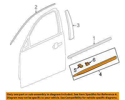 Cadillac GM OEM 13-18 XTS FRONT DOOR-Body Side Molding Right 22760478
