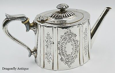 SUPERB Antique Victorian Chased Silver Plated Teapot James Dixon&Sons C1890